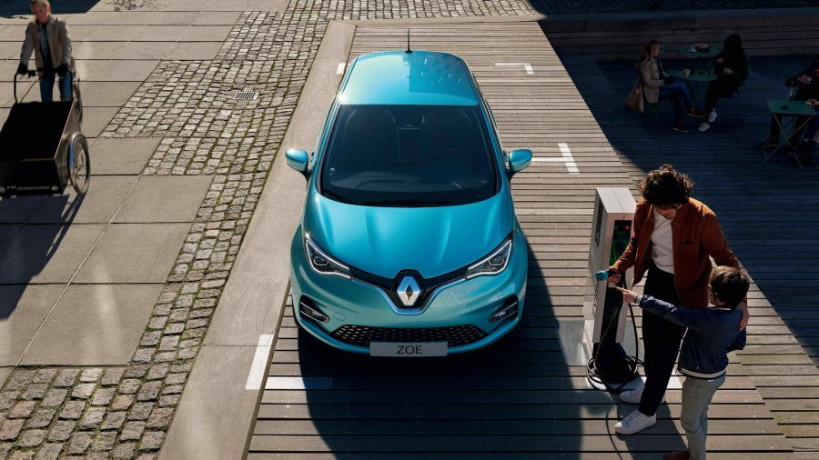 the new renault zoe electric car